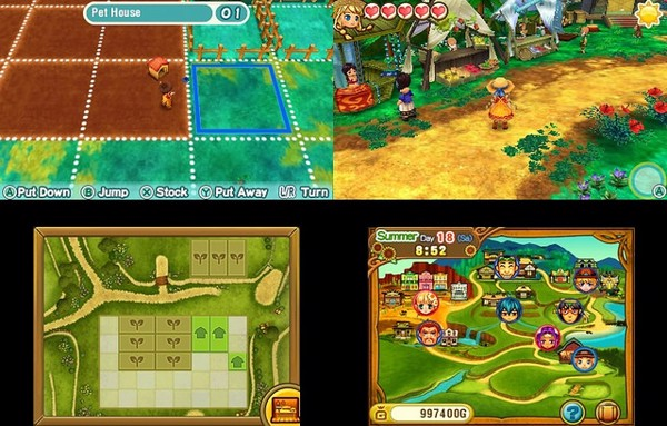 HARVEST MOON STORY OF SEASONS - TRIO OF TOWNS vietnam