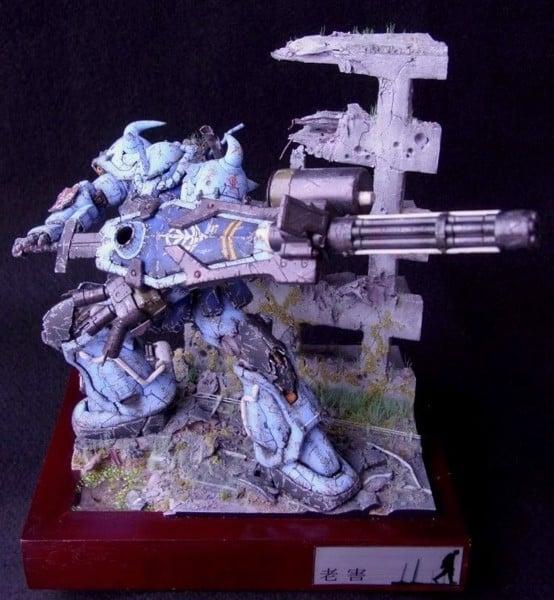 HGUC 1/144 Gouf Custom - Diorama