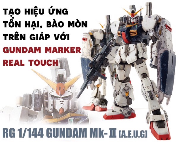 hiệu ứng weathering Gundam Marker Real Touch
