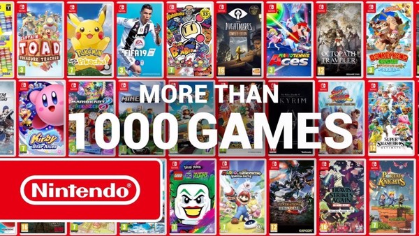 Hơn 1000 tựa game Nintendo Switch