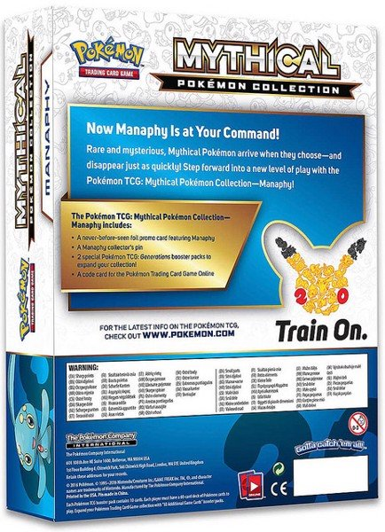 MYTHICAL POKEMON COLLECTION  MANAPHY POKEMON TRADING CARD GAME