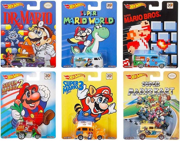 HOT WHEELS POP CULTURE SUPER MARIO BROS COMPLETE SET OF 6