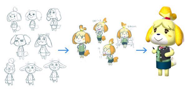 Isabelle concept Animal Crossing New Leaf