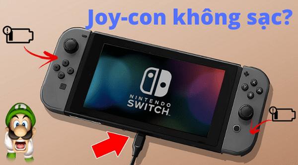 joy con không sạc trên nintendo switch
