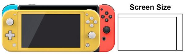 kích thước màn hình Nintendo Switch Lite