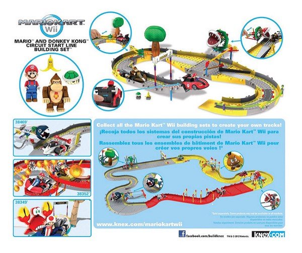 KNEX MARIO AND DONKEY KONG CIRCUIT START LINE BUILDING SET