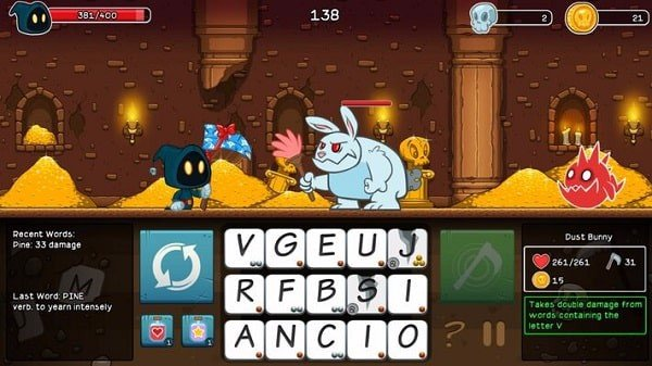 Letter Quest Remastered game giao duc nintendo switch