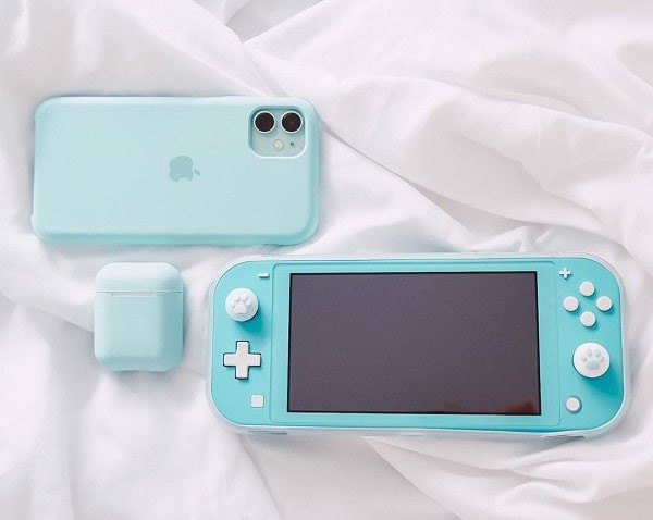 switch lite v2 blue mint  2020