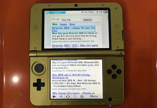 Surf the web on 2DS and 3DS game consoles