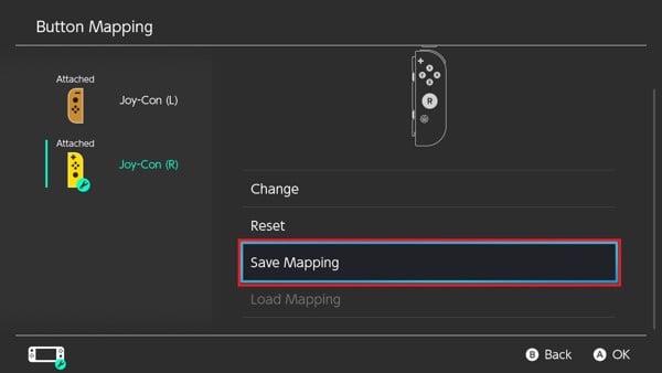Lưu cài đặt chỉnh nút cho máy Nintendo Switch