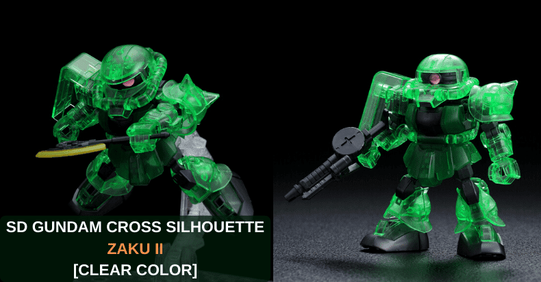 Mô hình Limited Gundam SD GUNDAM CROSS SILHOUETTE ZAKU II (CROSS SILHOUETTE FRAME Ver.) [CLEAR COLOR]