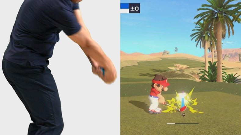 cách chơi Mario Golf Super Rush nintendo switch cảm ứng