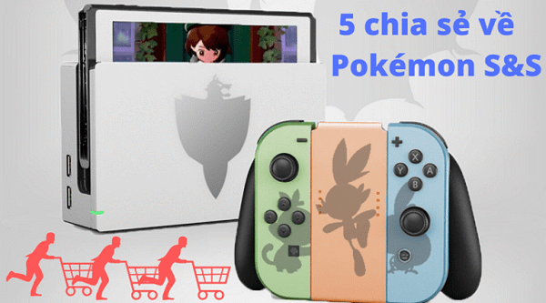 máy chơi game pokémon sword and shield