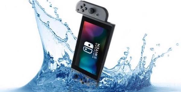 Máy chơi game Nintendo Switch bị rơi vào nước