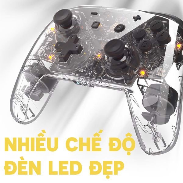 game shop bán Tay cầm Pro Controller trong suốt IINE PMW Nintendo Switch