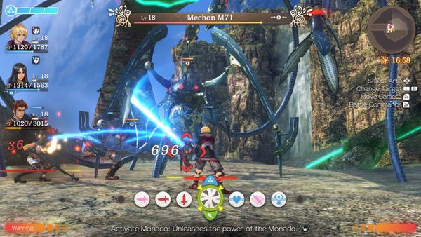 menu hướng dẫn combat Xenoblade Chronicles Definitive Edition