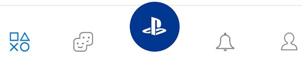 Menu ứng dụng Playstation