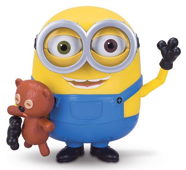 MINION BOB INTERACTS WITH TEDDY BEAR
