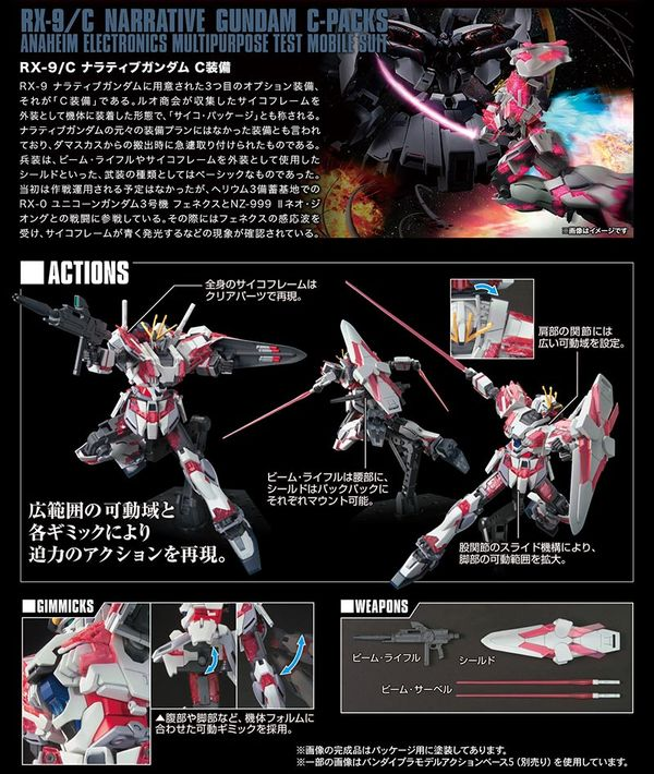 mua bán Narrative Gundam C-Packs HGUC tại Việt Nam