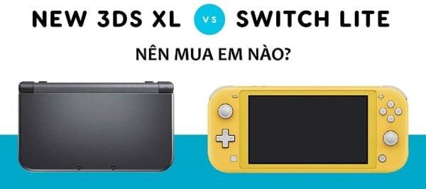 nên mua Nintendo Switch Lite hay New Nintendo 3DS XL