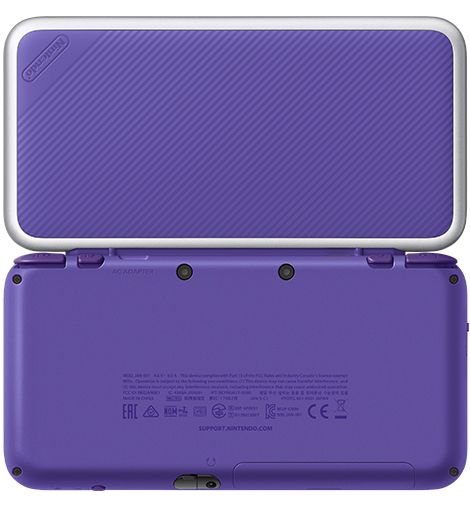 New Nintendo 2DS XL Purple Silver Mario Kart 7 Bundle nShop