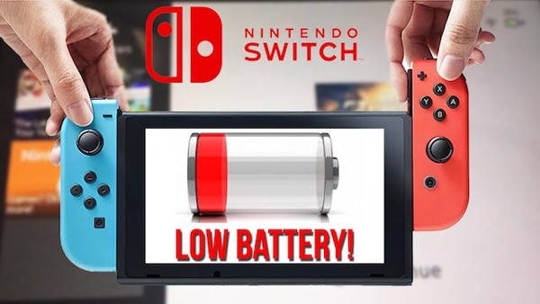Nintendo Switch low battery nshop