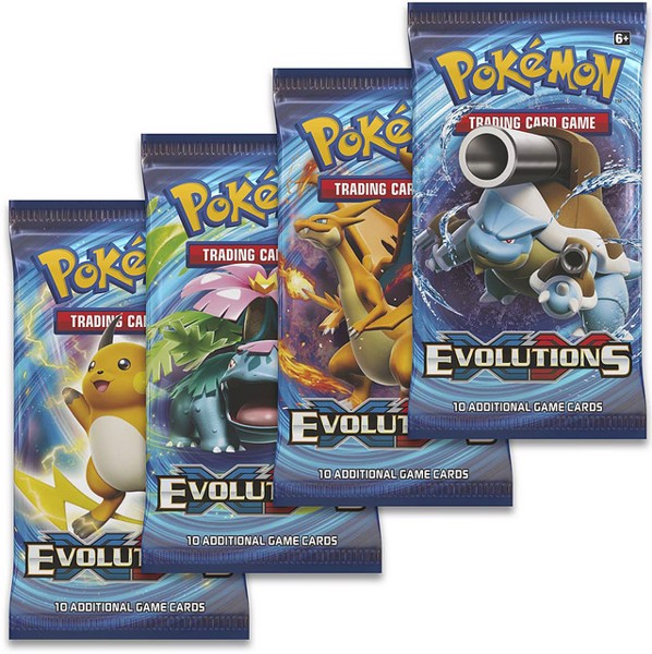 EVOLUTIONS BOOSTER PACK POKEMON TRADING CARD GAME  XY