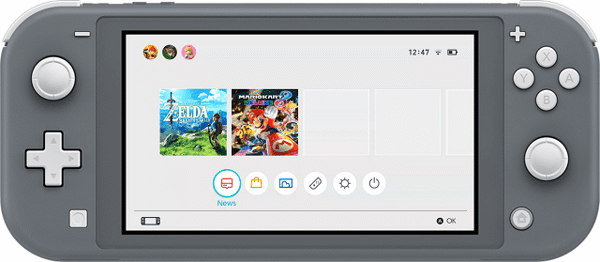 Nintendo Switch home menu hardware