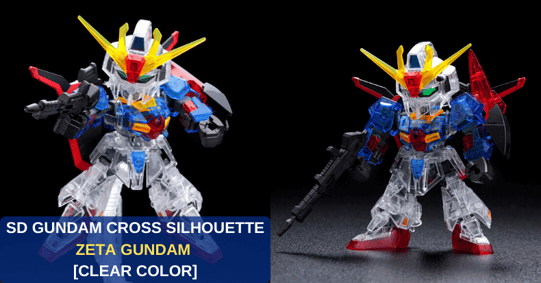 Mô hình Limited SD GUNDAM CROSS SILHOUETTE ZETA GUNDAM (CROSS SILHOUETTE FRAME Ver.) [CLEAR COLOR]