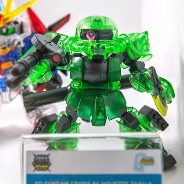 Shop Gundam Việt Nam SD Zaku II Cross Silhouette Frame CLEAR COLOR giá rẻ