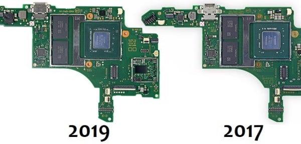 phân biệt chip Nintendo Switch 2019 - 2017