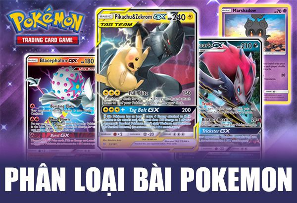 phân loại bài pokemon hiếm