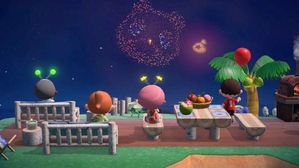 pháo hoa Animal Crossing New Horizons