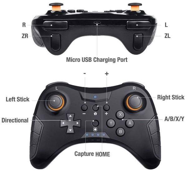 phụ kiện Pro Wireless Controller cho Nintendo Switch