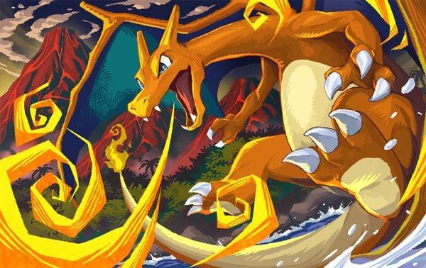 Pokemon Card Illustration GrandPrix charizard