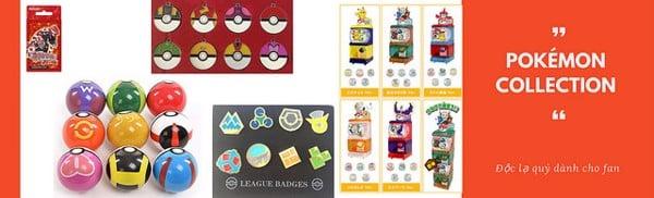 Huy hiệu, bộ sưu tập Pokemon, Pokéball... bán tại nShop HCM