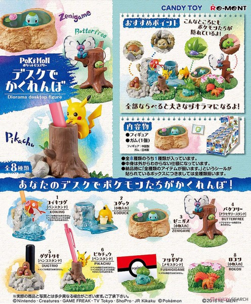 Pokemon Diorama Desktop Figure  Squirtle Zenigame