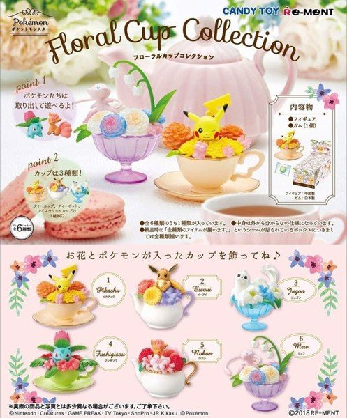 figure Pokemon Floral Cup Collection chính hãng Re-ment