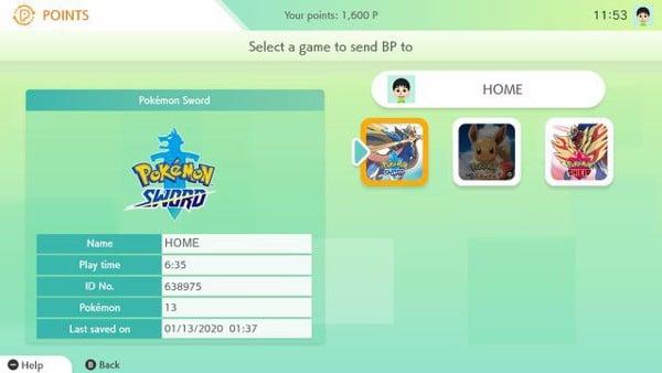 Pokemon Home Point