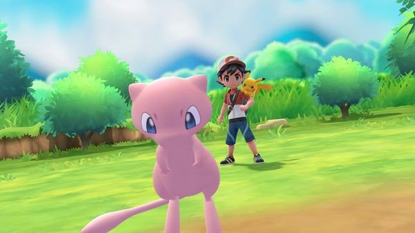 pokemon let go poke ball plus tặng mew
