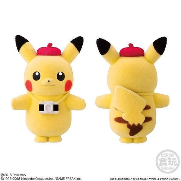 figure Pokemon Poke-mofu Doll 2 - Pikachu Camera đáng yêu