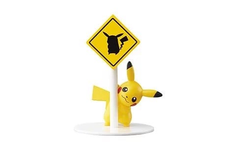Pokemon Road Sign  Pikachu