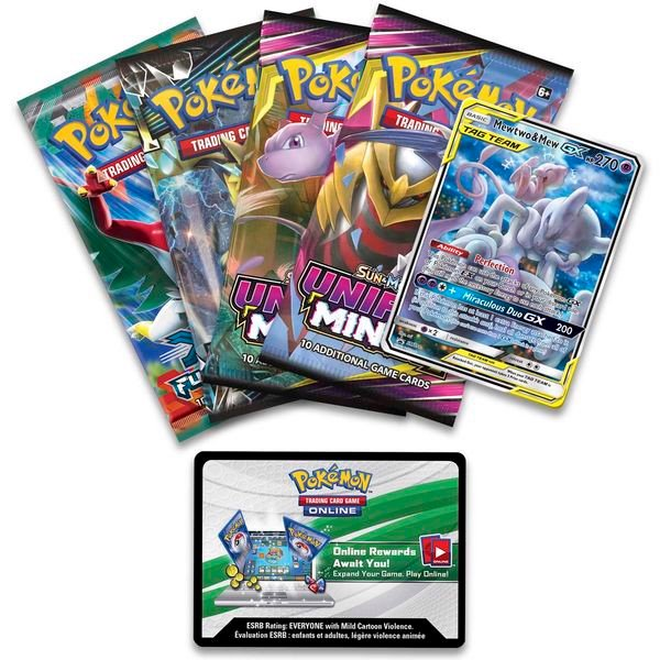pokemon shop bán bài Pokemon Mewtwo Mew-GX Power Partnership Tin