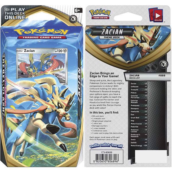pokemon shop bán bài Pokemon Zacian Theme Deck