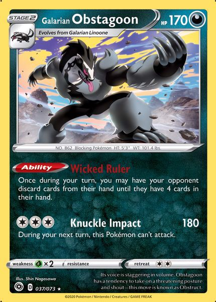 Pokemon TCG Champions Path Galarian Obstagoon