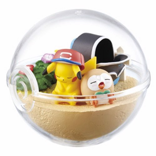 Pokemon Terrarium Collection EX Alola Ash Pikachu & Rowlet