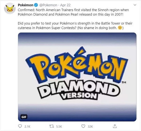 Pokemon Tweet diamond pearls