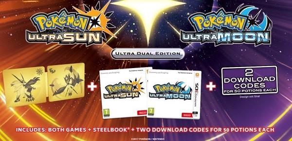 Pokemon Ultra Sun & Ultra Moon Steelbook Edition