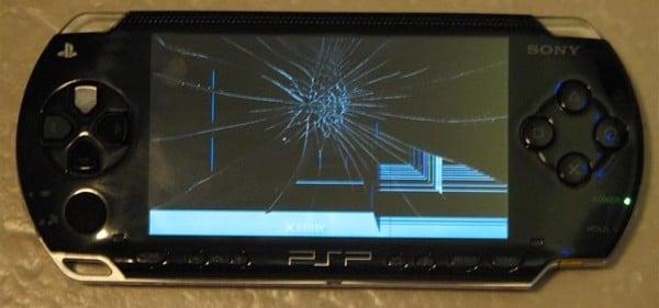 psp 3000 bị hư màn hình do sự cố