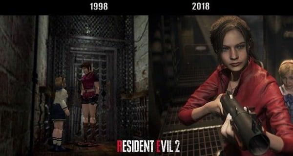 thay đổi trong resident evil 2 remake